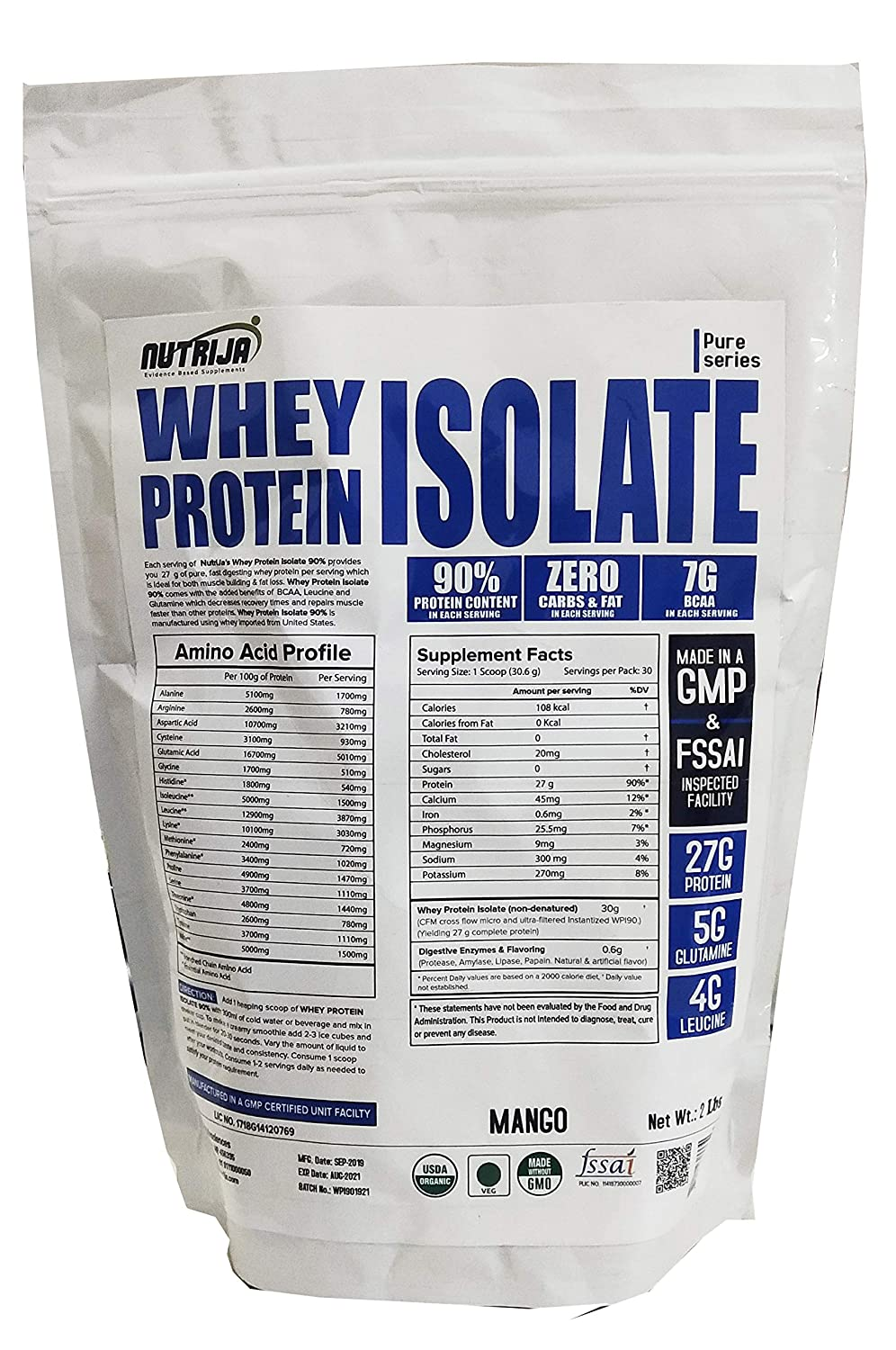 Nutrija Affordable Whey Protein Isolate