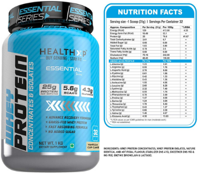 Healthxp Essential Whey Protein Under 1500