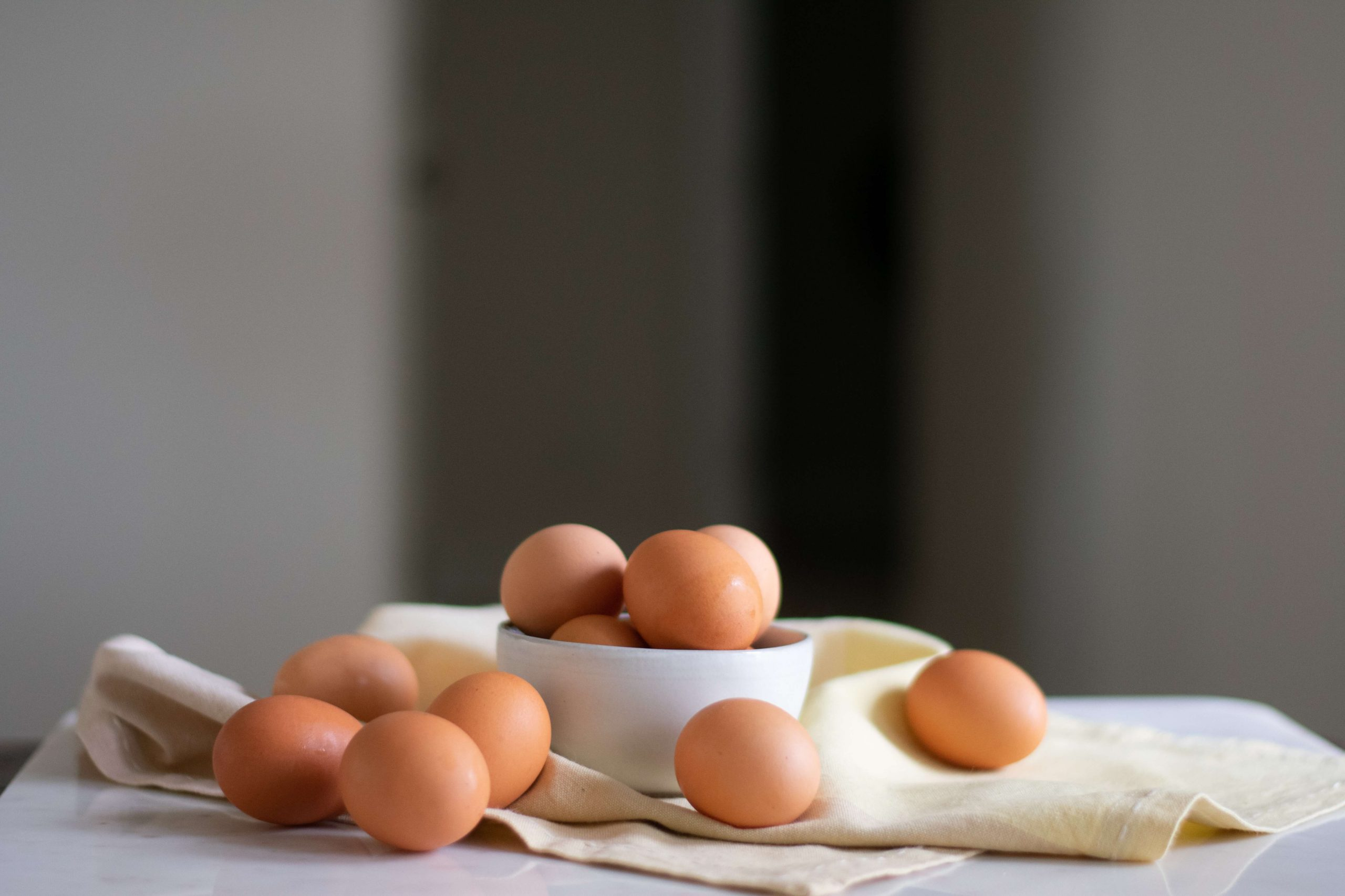high protein eggs on a table