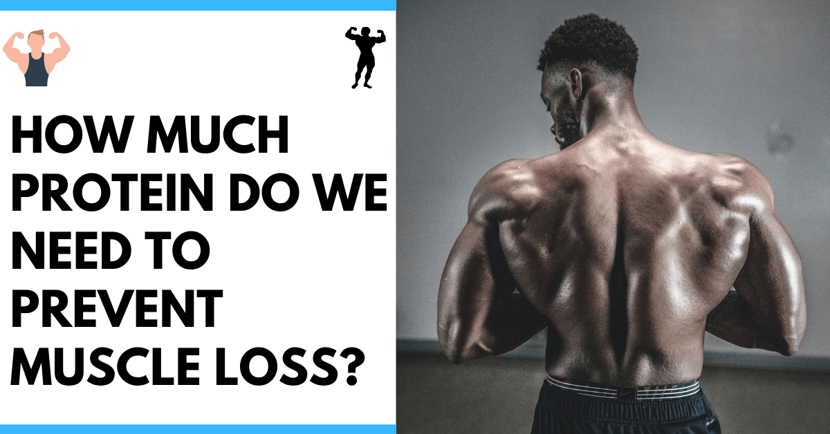 Bodybuilder standing and how much Protein he needs to prevent Muscle loss
